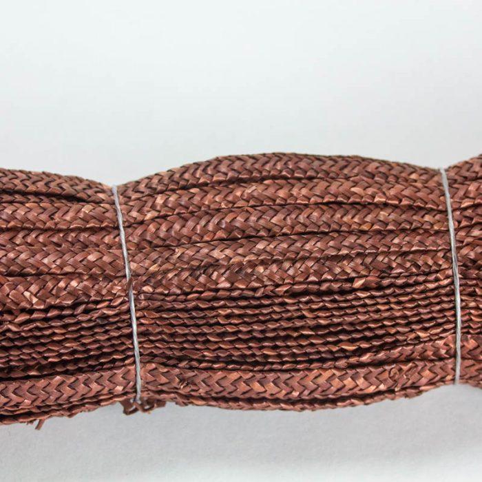 Spice Brown straw braid in standard Milan weave