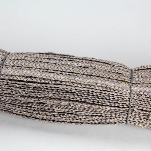 Taupe Grey straw braid in standard Milan weave
