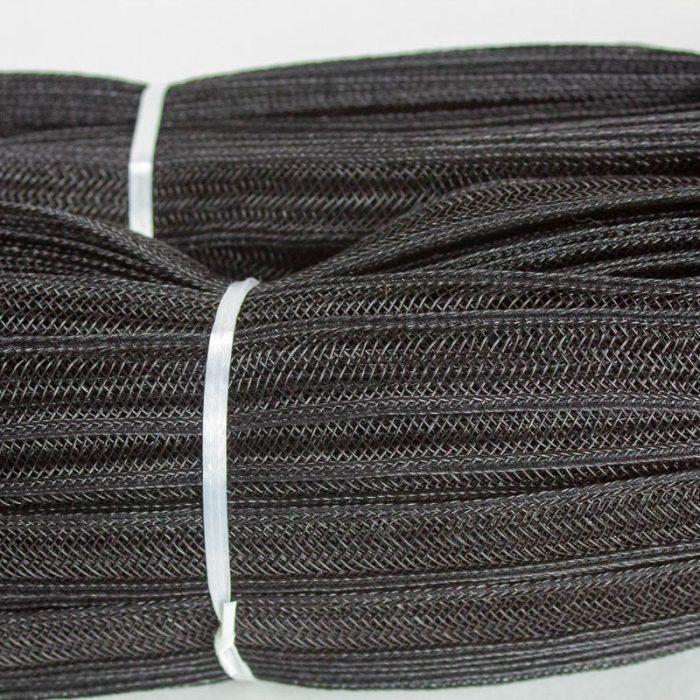 Black Open weave pattern braid.