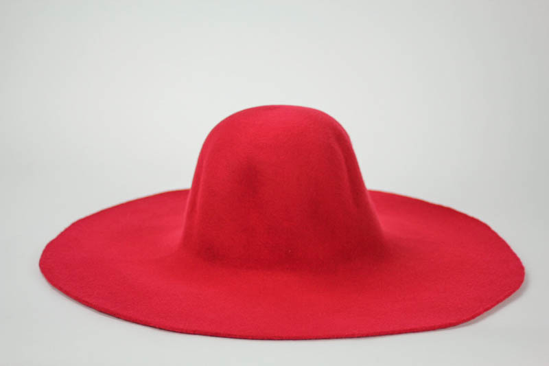 Good red capeline. Consistent quality of Wool Felt made in Czech Republic.