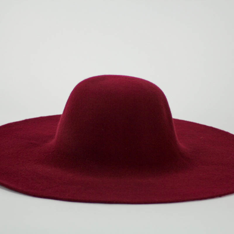 Good burgundy color capeline. Consistent quality of Wool Felt made in Czech Republic