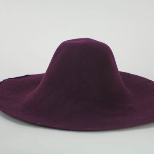 Purple plum 100% merino wool felt made in U.S.