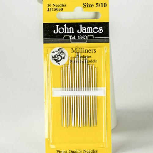 Milliners needles, also known as Straw needles, are longer than their Sharps counterparts.