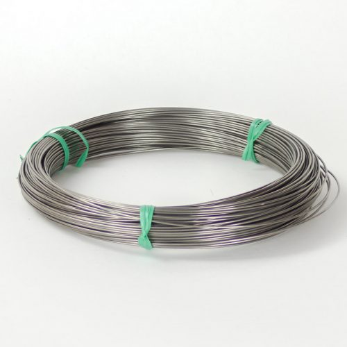 Stainless steel wire #18 gauge. This is a tempered stainless steel wire. Available in 5yd and a 1lb coil (approximately 60yds).