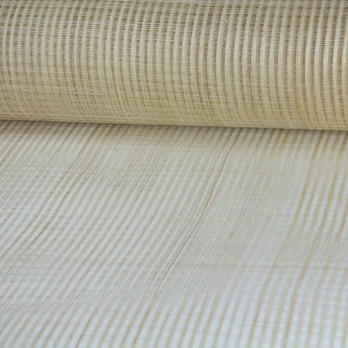 Natural sinamay Pattern has quarter inch open weave.