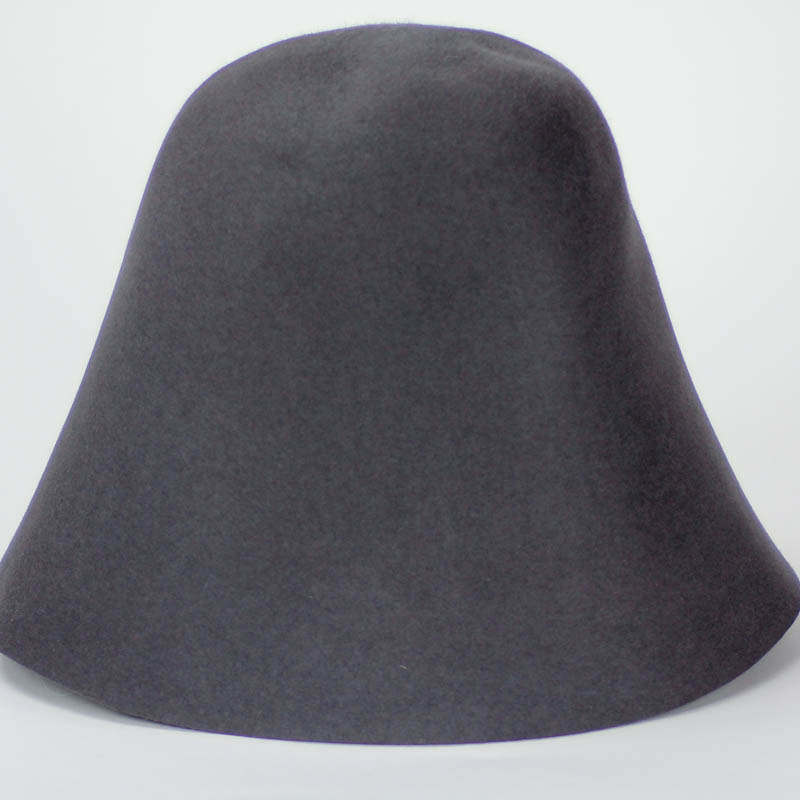 Dark Charcoal hood or cone shape, 100% rabbit fur felt, excellent quality with standard felt finish