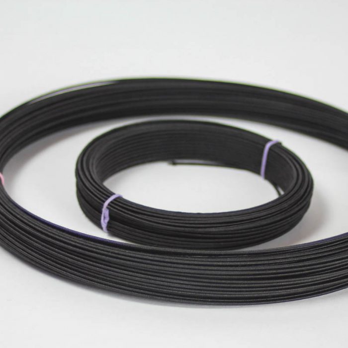 Rayon covered wire in black, #19 (.91 mm) is the most popular gauge. Used mostly in reinforcing hat brims and creating shapes and frames. For wire, the lower number is Rayon covered wire in white, #19 (.91 mm) is the most popular gauge. Used mostly in reinforcing hat brims and creating shapes and frames. For wire, the lower number is the Rayon covered wire in white, #19 (.91 mm) is the most popular gauge. Used mostly in reinforcing hat brims and creating shapes and frames. For wire, the lower number is the heavier gauge.heavier gauge.the heavier gauge.