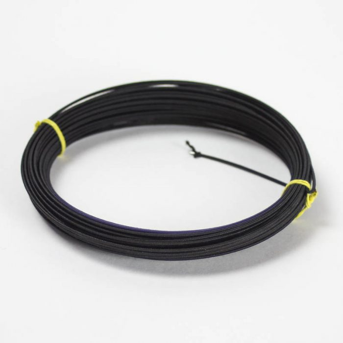 Rayon covered wire in black or white, #23 gauge (.58 mm) Available only in 20 yard coil. Used in hat trimming and doll hats.