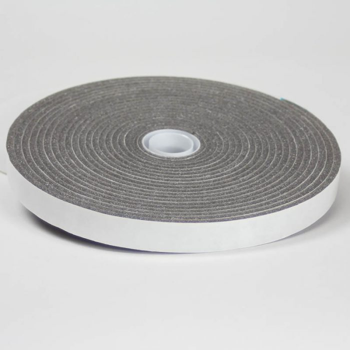 Adhesive backed foam, 3/4 inch width, grey - use to pad inside of hat to reduce hatsize.