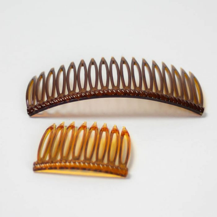 Tortoise plastic hair combs