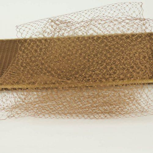 Coffee brown Standard diamond pattern with 1/4 inch opening, 8-9 inch width, 100% nylon.