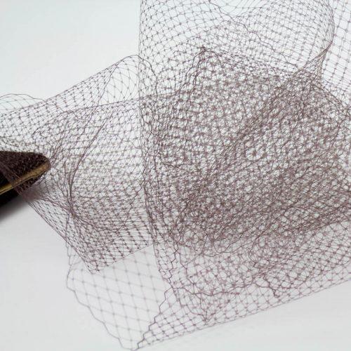 Dark brwon Standard diamond pattern with 1/4 inch opening, 8-9 inch width, 100% nylon.