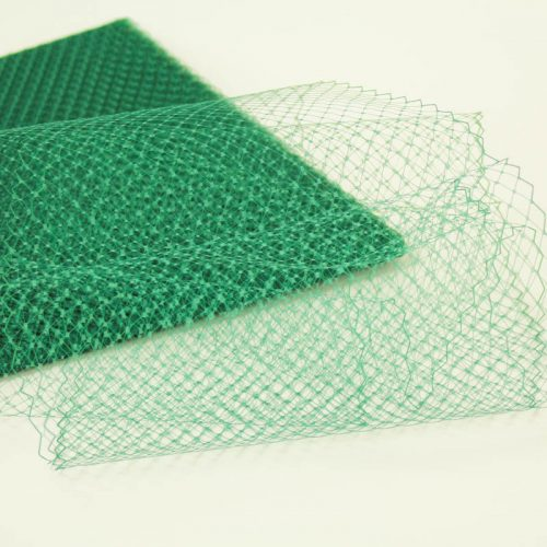 Hunter green Standard diamond pattern with 1/4 inch opening, 8-9 inch width . 100% nylon.