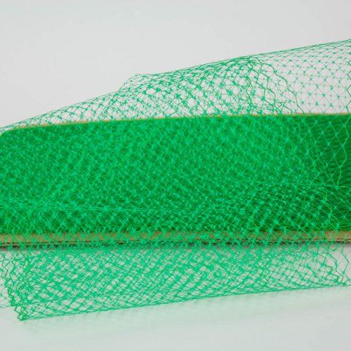 Bright green Standard diamond pattern 1/4 inch, 8-9 inch width, 100% nylon.