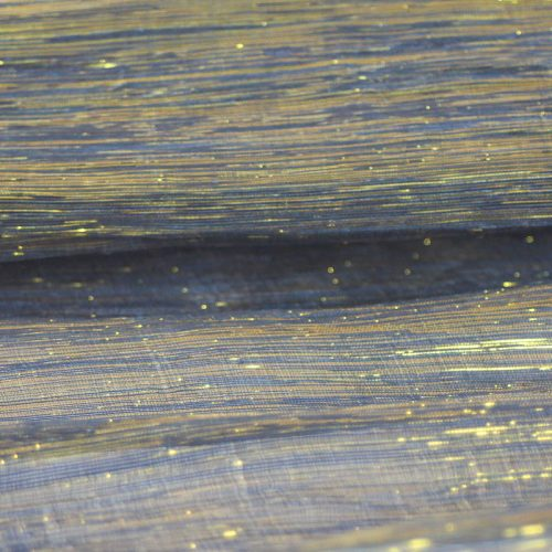 Metallic Silk Abaca in Black and Gold
