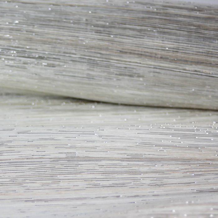 Metallic Silver and Natural Silk Abaca