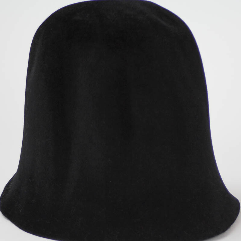 Deep Black hood, or cone shape, with velour finish on outside only. Plush velour velvet look on outer side.