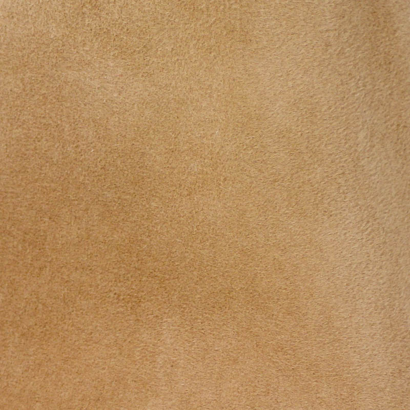 Camel tan, capeline with velour finish on outside only.