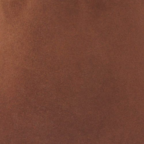 Spicy brown capeline with velour finish on outside only.