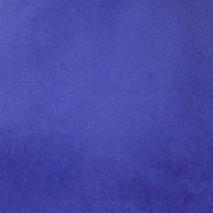Bright blue capeline with velour finish on outside only.