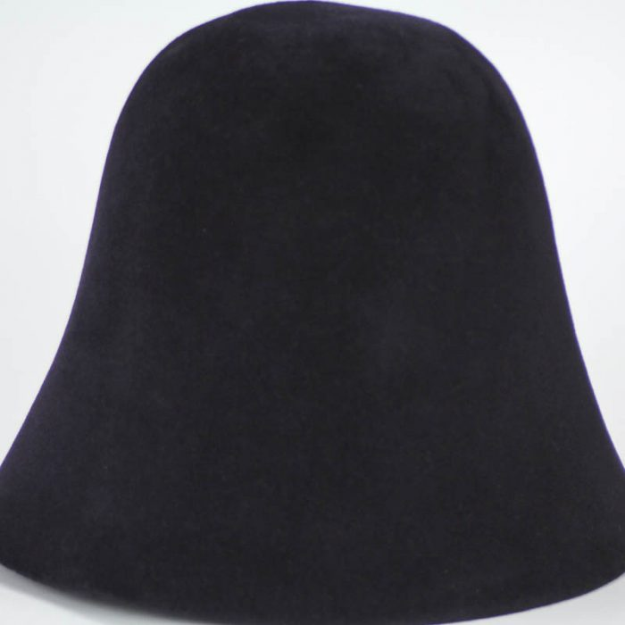 Midnight Navy hood, or cone shape, with velour finish on outside only