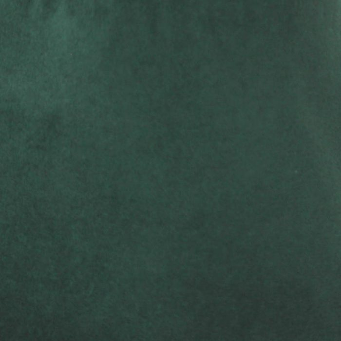 Deep green capeline with velour finish on outside only.