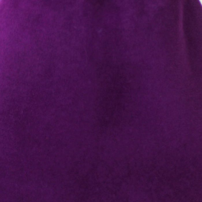 Red violet capeline with velour finish on outside only.