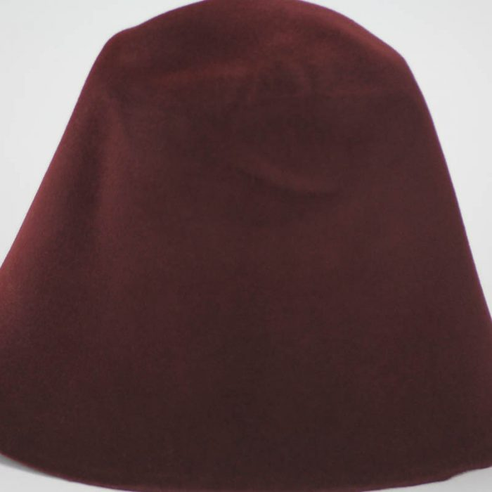 Deep Brandy shade hood, or cone shape, with velour finish on outside only.