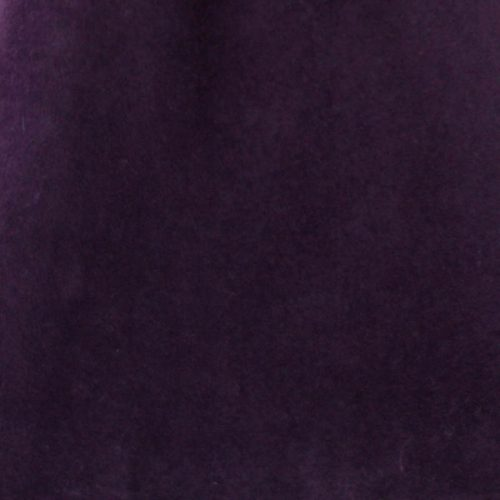 Deep eggplant capeline with velour finish on outside only.