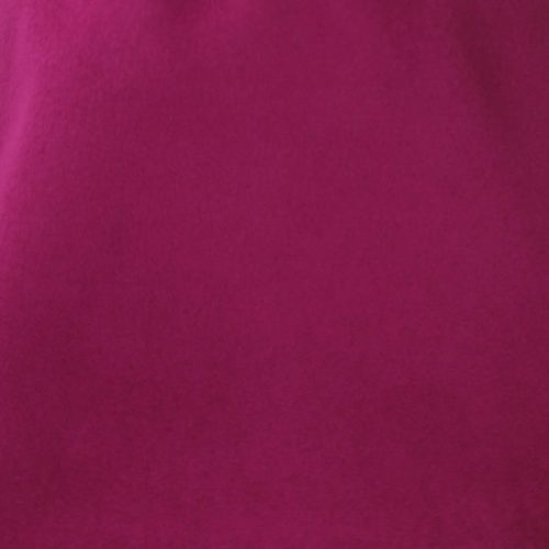 Deep magenta capeline with velour finish on outside only.
