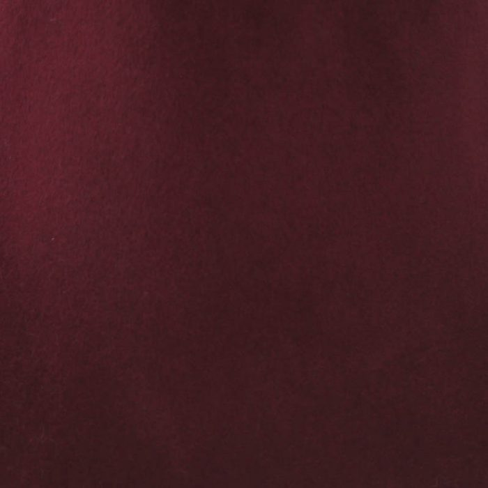 Deep burgundy wine capeline with velour finish on outside only.
