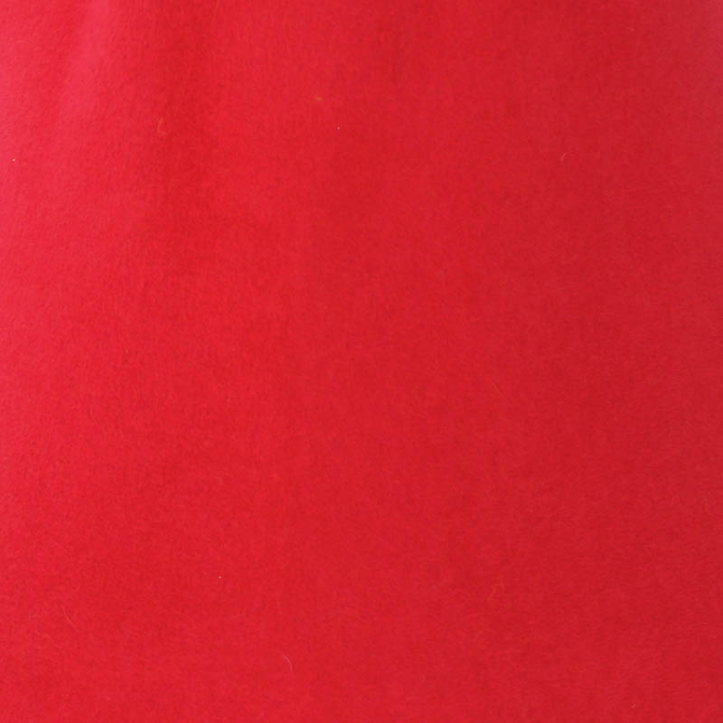 Bright Red capeline with velour finish on outside only.