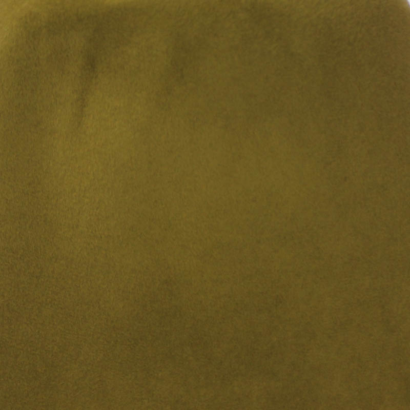 Golden olive green capeline with velour finish on outside only.