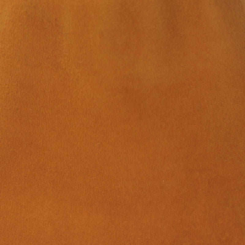 Pumpkin shell brown capeline with velour finish on outside only.