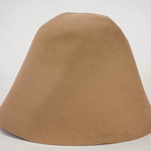 Camel Brown 100% rabbit fur felt, excellent quality with standard felt finish.