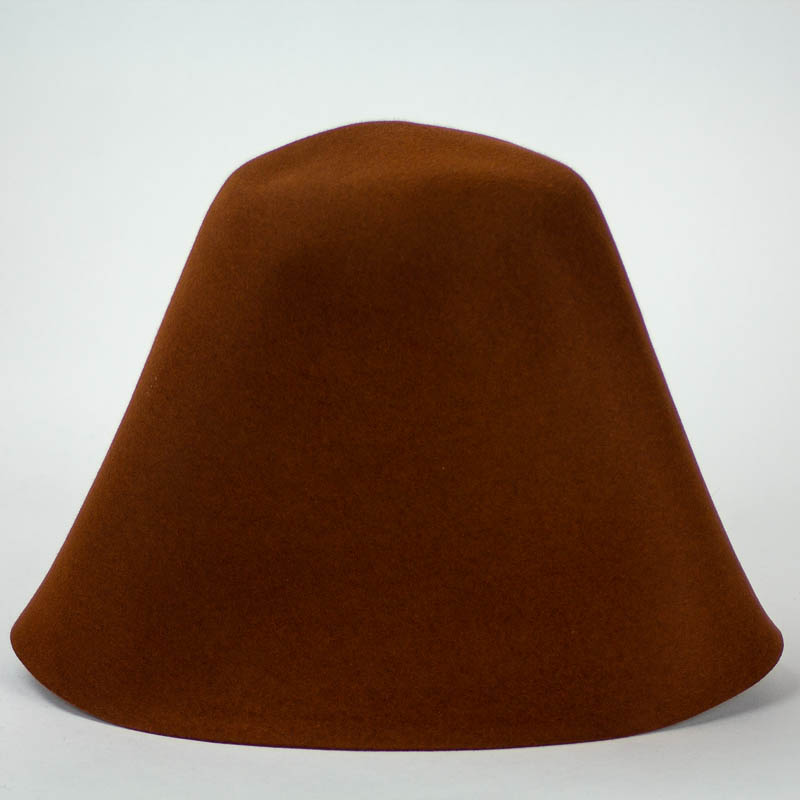 Spice Brown 100% rabbit fur felt, excellent quality with standard felt finish.