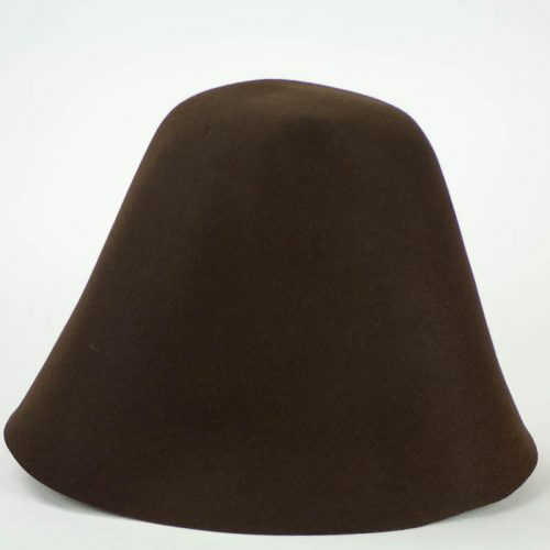 Dark Brown 100% rabbit fur felt, excellent quality with standard felt finish.
