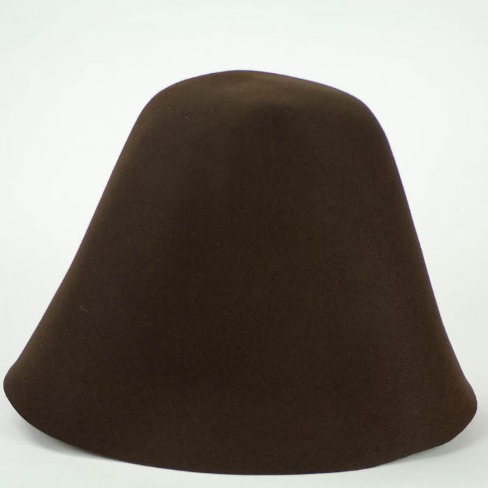 Dark Brown 100% rabbit fur felt, excellent quality with standard felt finish.