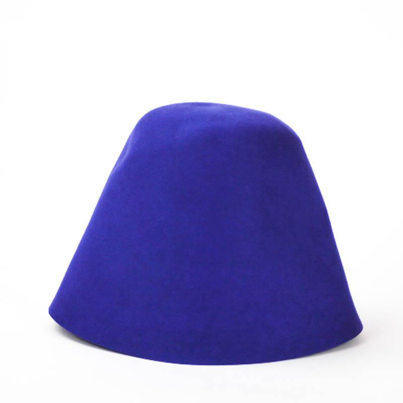 Bright Blue 100% rabbit fur felt, excellent quality with standard felt finish.