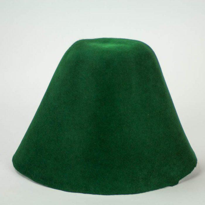 Hunter Green 100% rabbit fur felt, excellent quality with standard felt finish.