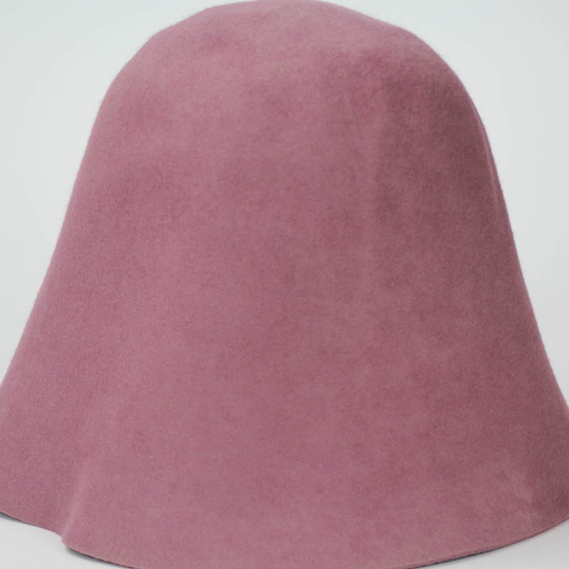 Old Rose color in 100% rabbit fur felt, excellent quality with standard felt finish.