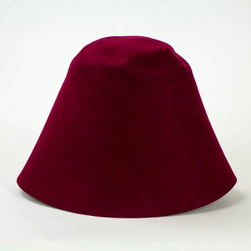 Deep Burgundy 100% rabbit fur felt, excellent quality with standard felt finish.