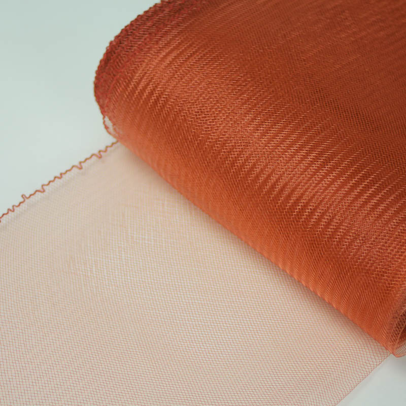 Terra Cotta Horsehair 100% quality polyester, very flexible, used in making hats and for trim work.