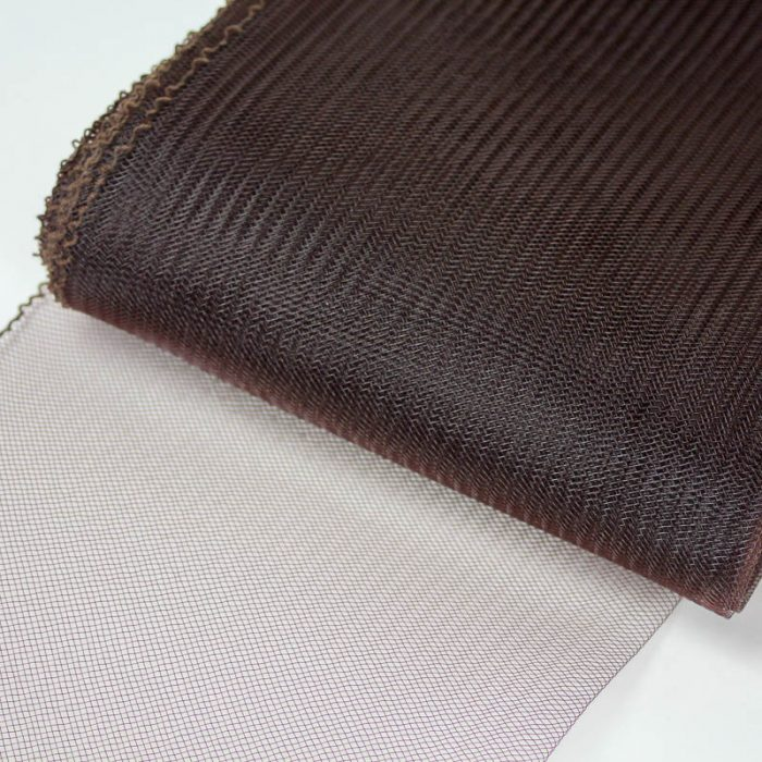 Brown Horsehair 100% quality polyester, very flexible, used in making hats and for trim work