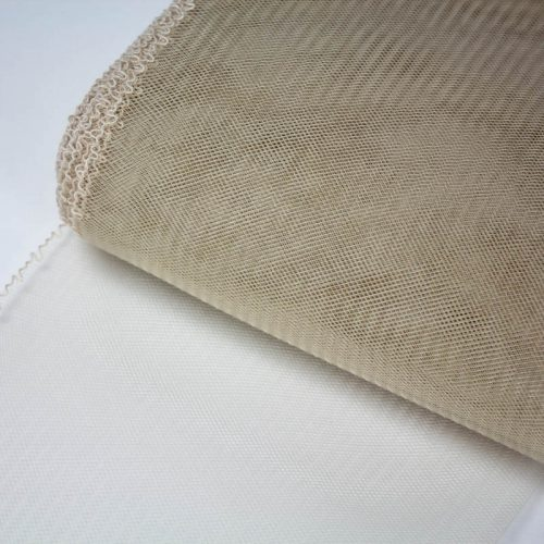 Beige Horsehair 100% quality polyester, very flexible, used in making hats and for trim work.