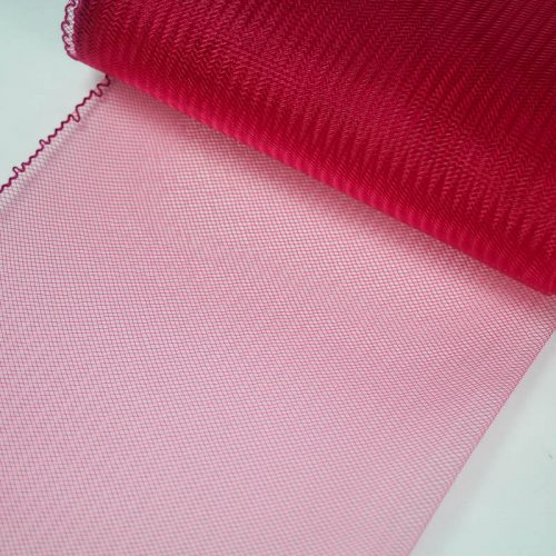 Rose Pink Horsehair 100% quality polyester, very flexible, used in making hats and for trim work.