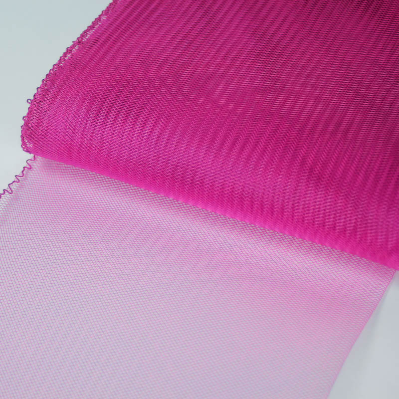 Fuchsia horsehair 100% quality polyester, very flexible, used in making hats and for trim work.