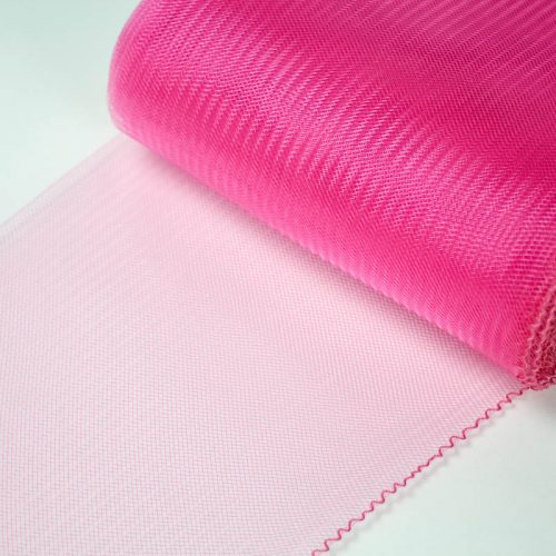 Hot Pink Horsehair 100% quality polyester, very flexible, used in making hats and for trim work.