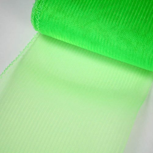 Neon Green Horsehair 100% quality polyester, very flexible, used in making hats and for trim work