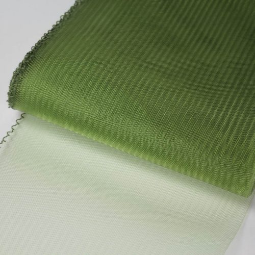 Olie Green Horsehair 100% quality polyester, very flexible, used in making hats and for trim work.